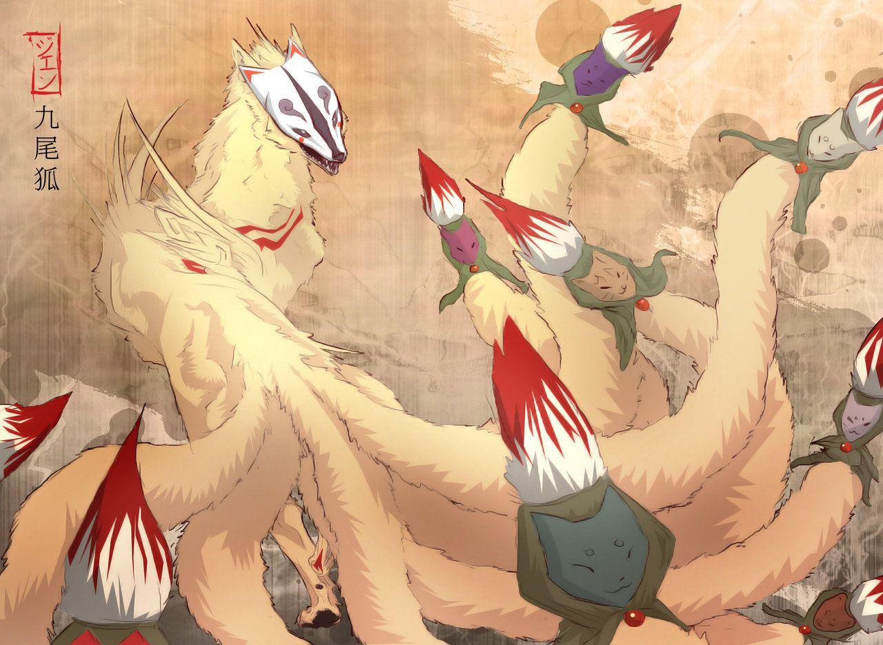 Demon Lord Ninetails 210 min. by ~Kiseba on deviantART | Okami ...