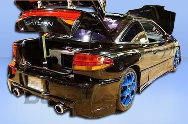 This DuraFlex custom rear bumper cover is available for 1991-1996 Saturn SC2 (ALL) models. Description from octanemotorsports.com. I searched for this on bing.com/images