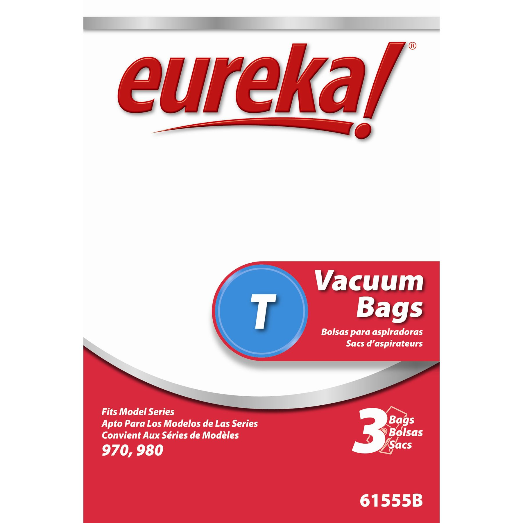Eureka 61555B-6 Disposable Dust Bags Type T 3-count