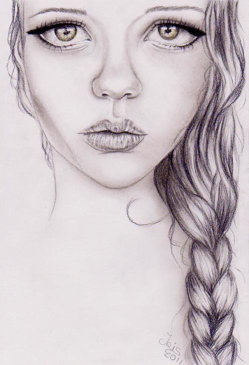 رسومات بنات لوحات فنيه لاجسام نساء لوحات بنات Portrait Drawing Face Art Drawings