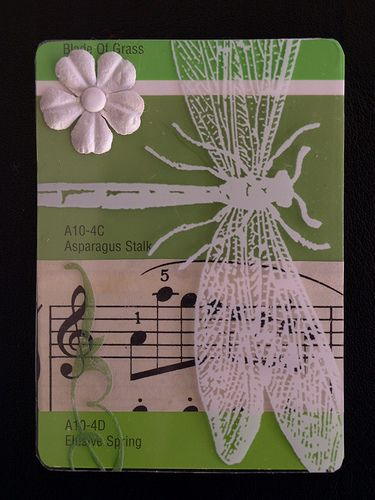 Atc Green Paint CardSummerS Day  Paint Cards Paint Chips And Panda