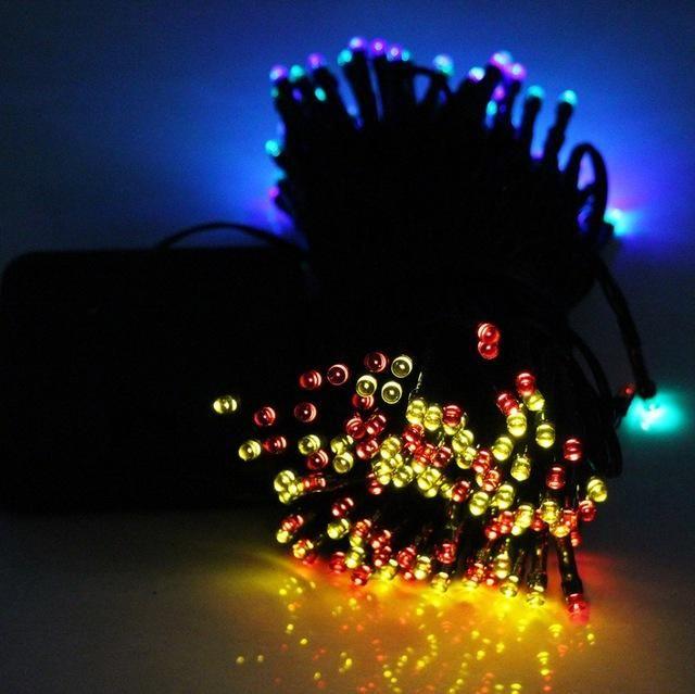 100LED Solar Led string light RGB single color Decoration Light for