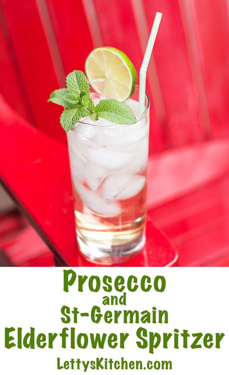 Prosecco And Elderflower Spritzer Recipe Prosecco Cocktails Elderflower Light Cocktails