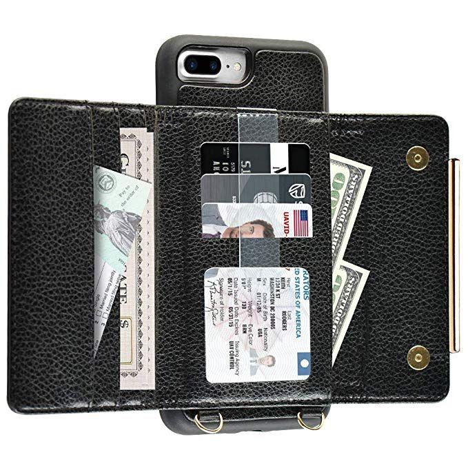 half off 99285 afe47 Amazon.com: iPhone 8 Plus Crossbody Case, ZVEdeng iPhone 8 Plus Card ...