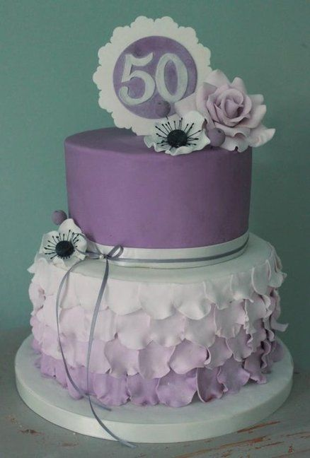 50th Birthday Cake By Sweetassugarcakes
