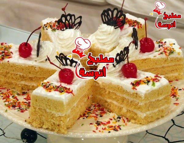 المقادير والطريقة مكتوبة لطريقة عمل جاتوه بالمربى والكريمة مقدمه من الشيف نجلاء الشرشابى فى برنامج على قد الايد على قنا Dessert Cake Recipes Cake Desserts Cake