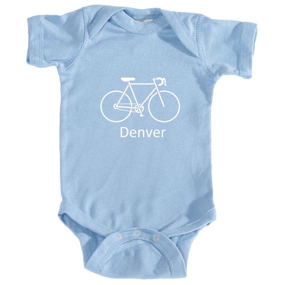 Denver, Colorado Bicycle - Infant Onesie/Bodysuit