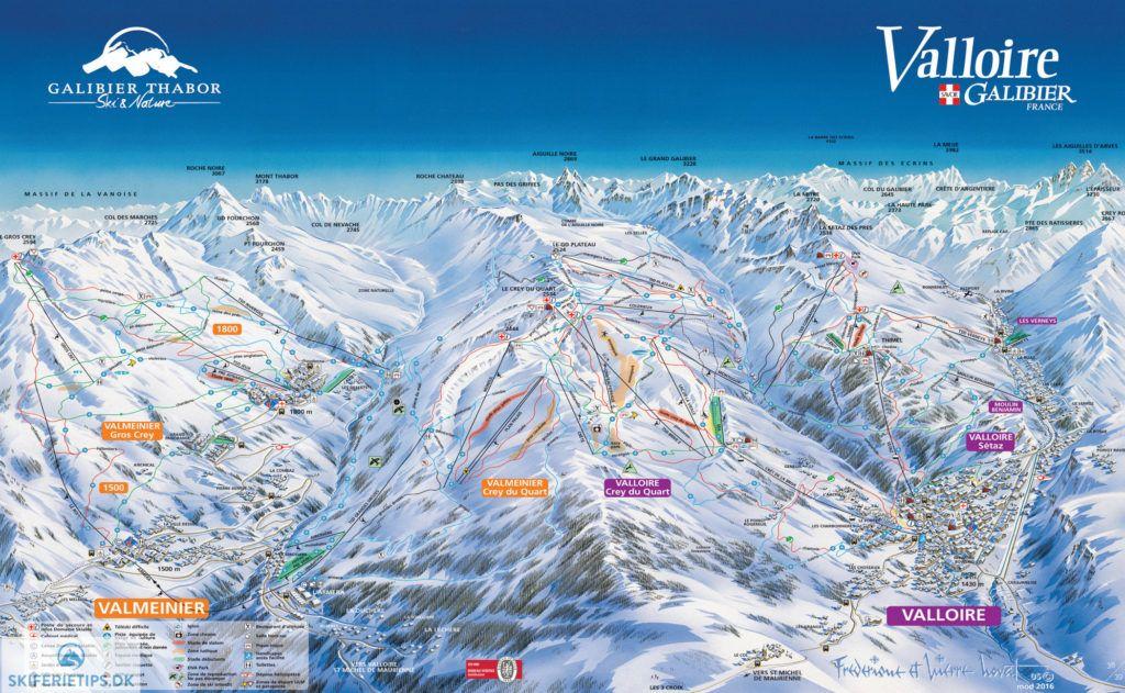 Valloire Piste Map (High resolution / .JPEG) #valloire #skiing #france