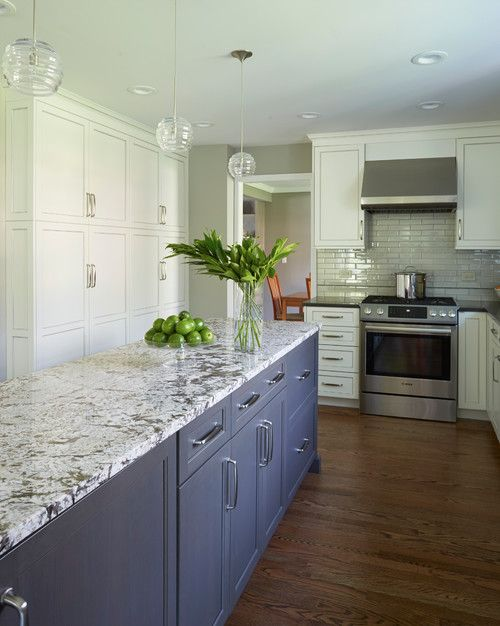 Graceful Gray Kitchen Remodel - Glen Ellyn, IL by The Kitchen Studio ...