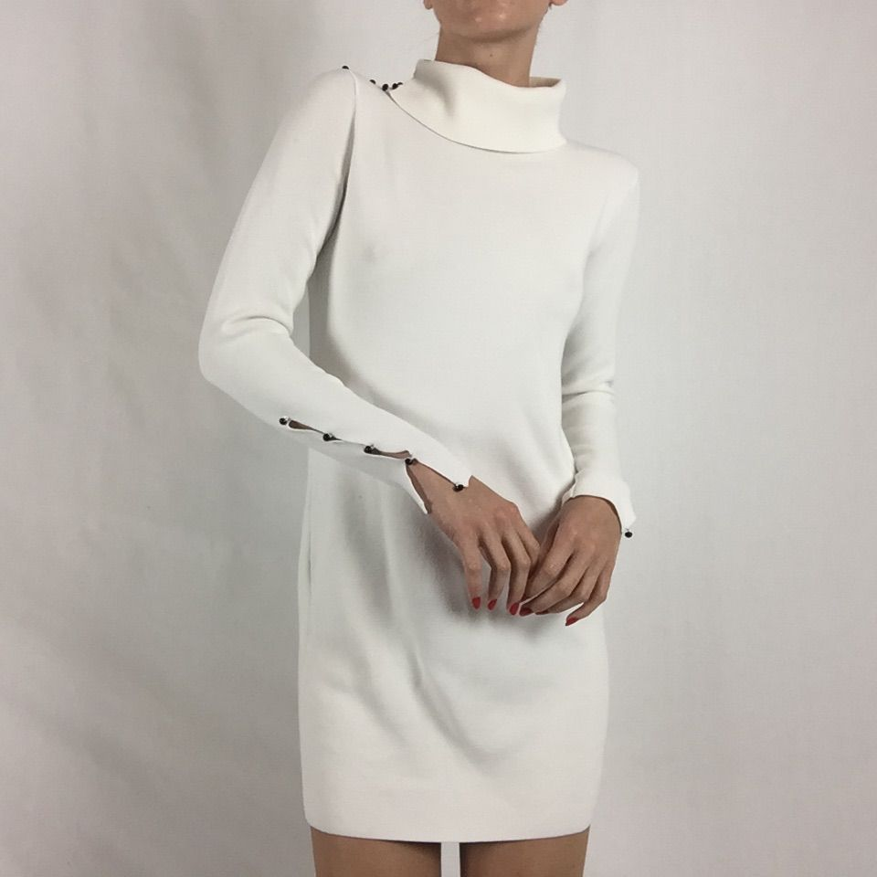 Club Monaco White Cowl Neck Sweater Dress | Cowl neck sweater ...