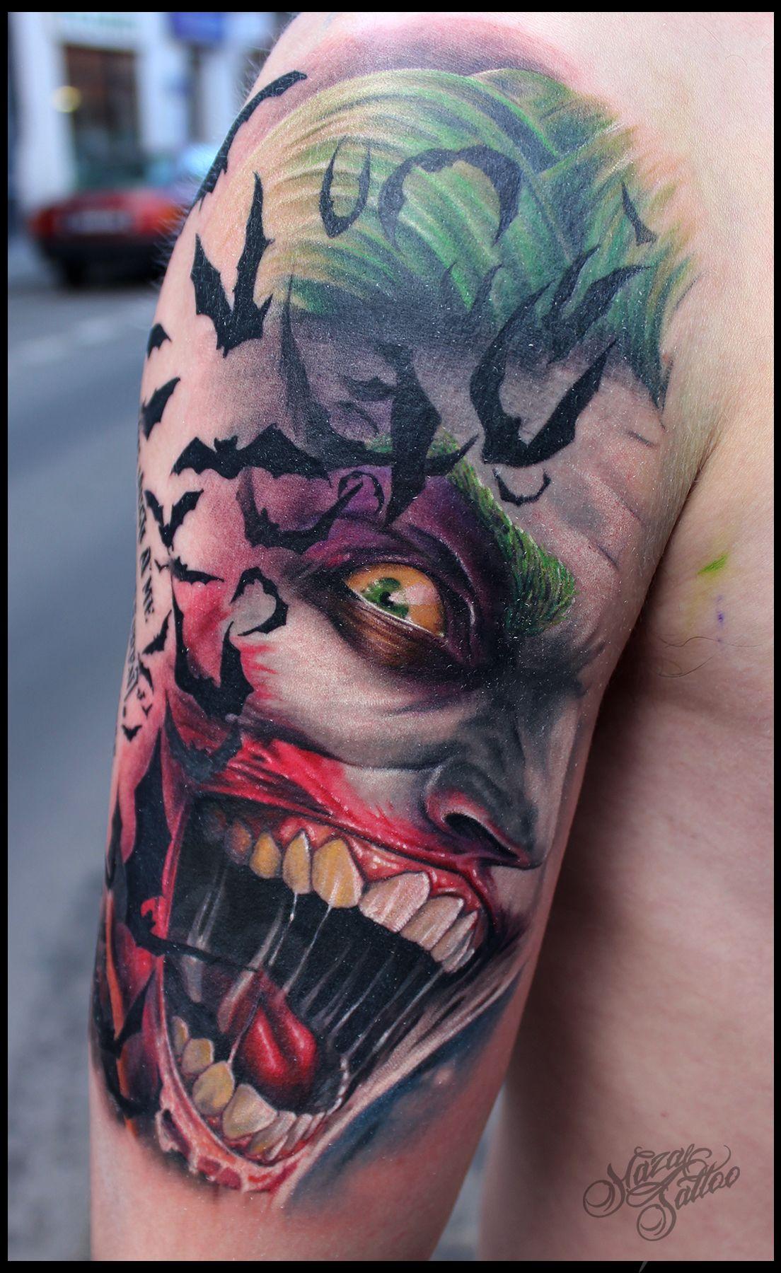 Joker Smile 3d Hazatattoo Smile Tattoo Joker Smile Tattoo Studio