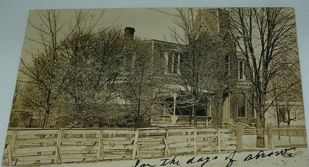 1910 Rppc In The Days Of Snow Grand Mansion Murfreesboro