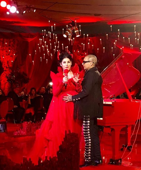 Kat Von D Wore A Red Wedding Dress Click Above To See More Pictures And Videos