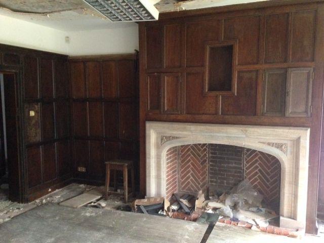 tudor style fireplace
