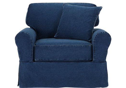 shop for a cindy crawford home beachside denim chair at rooms to