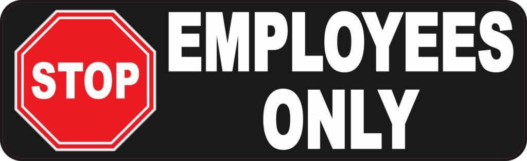 Stop Employees Only Magnet 10 Inches X 3 Inches Stickers Branding Materials Lettering