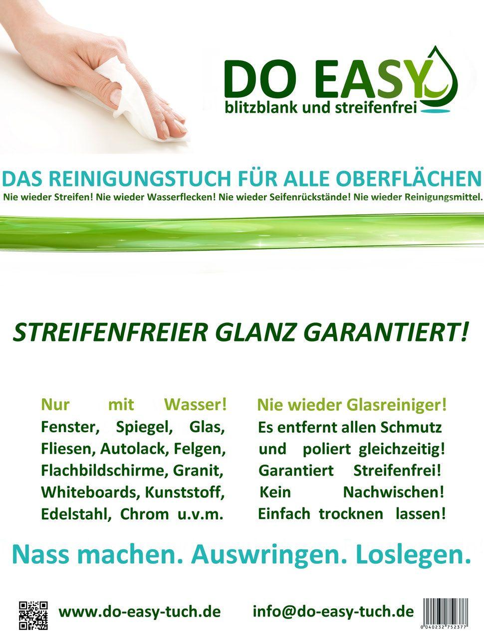 Do Easy Reinigungstuch Glasreiniger Reinigen Und Reinigungsmittel