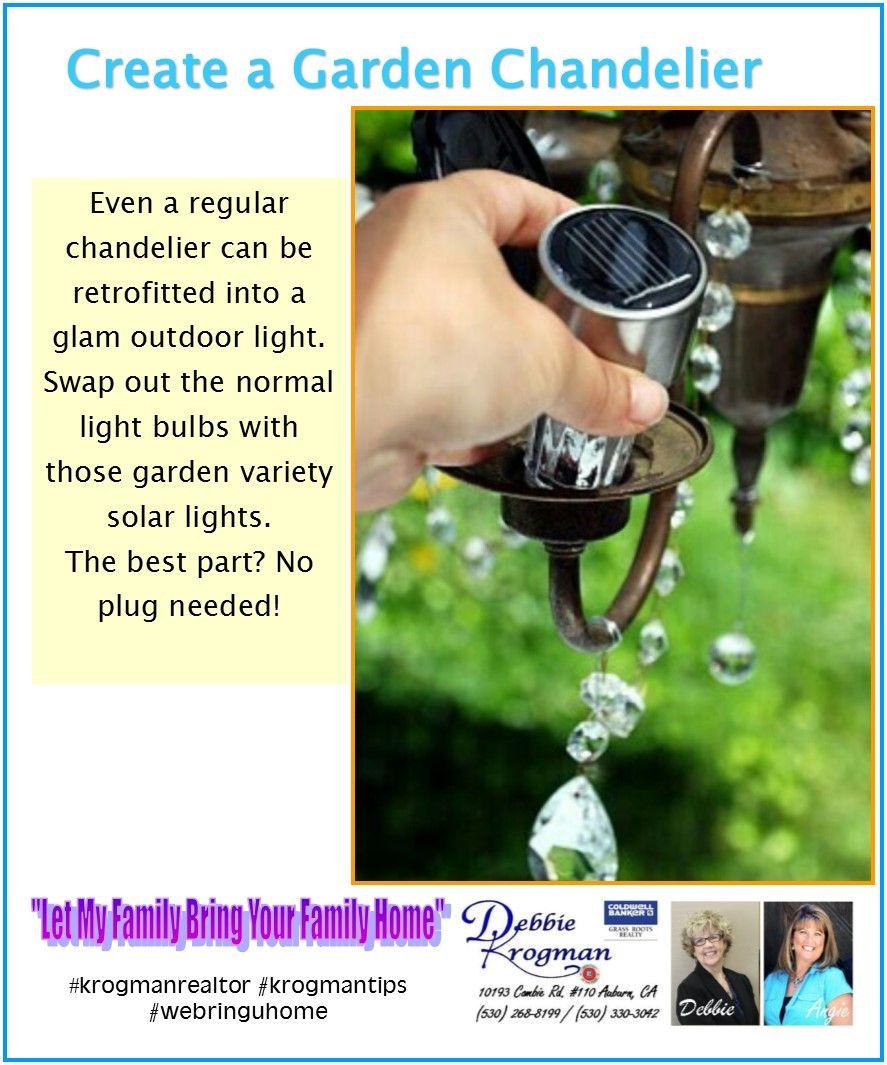 Brighten up your backyard...backyard chandelier. #krogmanrealtor #krogmantips #brighten #backyardchandelier