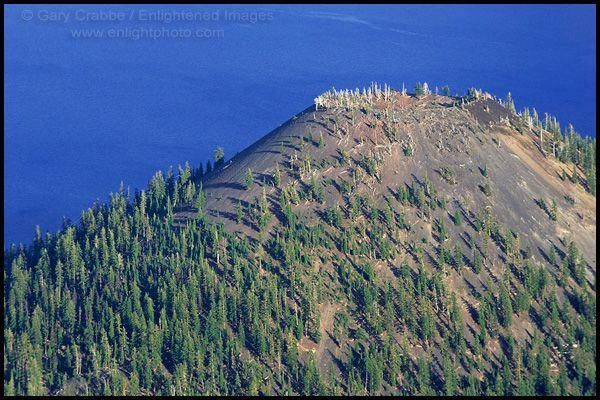 Photo: Volcanic vent crater at summit of cinder cone, Wizard Island, Crater Lake National Park, Oregon #craterlakenationalpark Photo: Volcanic vent crater at summit of cinder cone, Wizard Island, Crater Lake National Park, Oregon #craterlakenationalpark