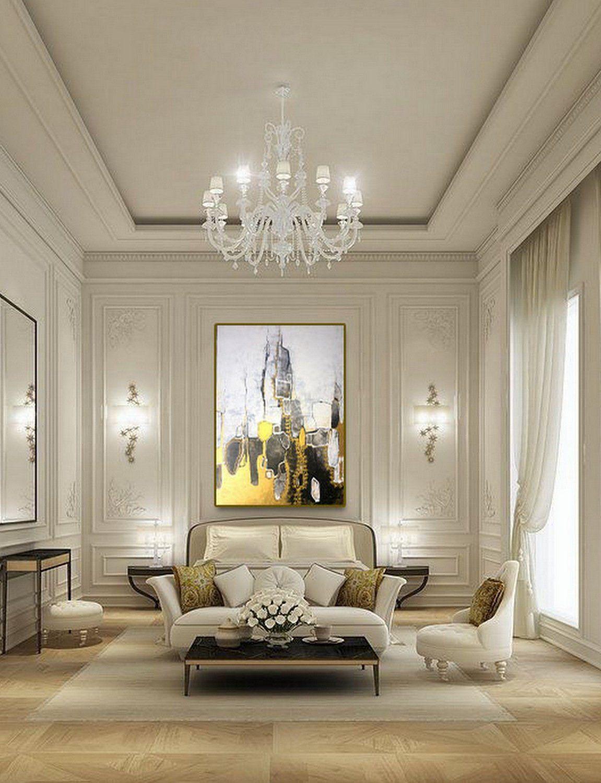 Large Acrylic Painting Original Abstract Artoriginal Etsy Elegant Living Room Decor Elegant Home Decor Elegant Living Room