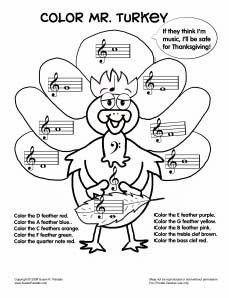 colormrturkeybw Teaching music, Music activities