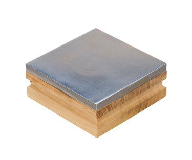Bench Block Steel 3 Inch With Wood Base For Stamping And Texturing Metal Hardening Wire Jewelry Tools For Metal Stamping Blanks Bench Block Metal Working