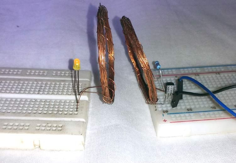 Simple Wireless Power Transmission Circuit to glow an LED ...