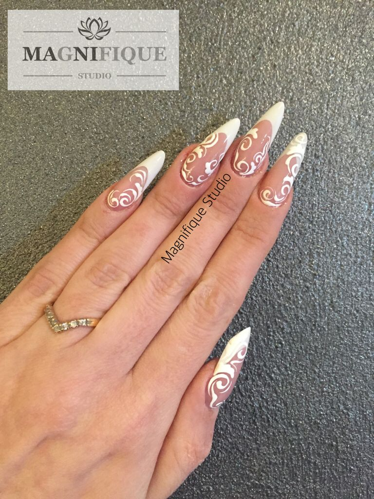 French nails Nägel weiß | Nail Design | Pinterest | French nails ...