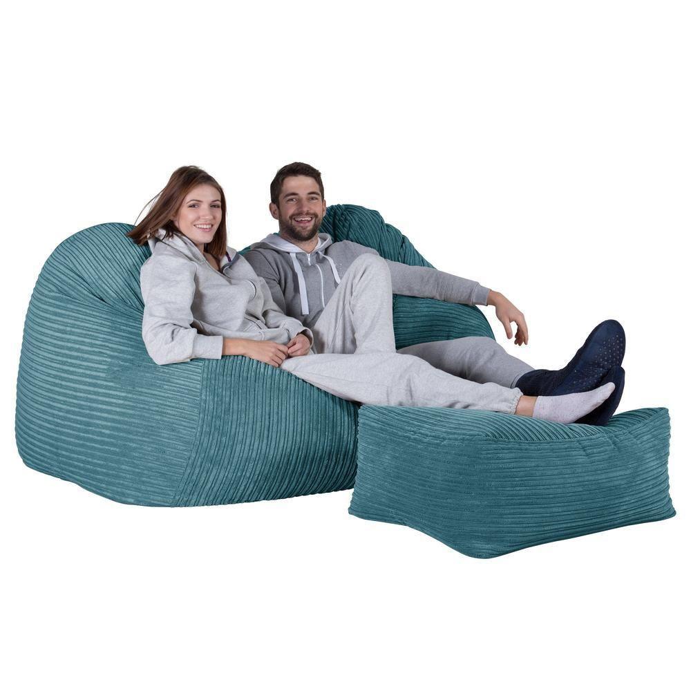 Riesen Sitzsack Couch Cord Türkis Sitzsack Sitzsack Sofa Säckchen