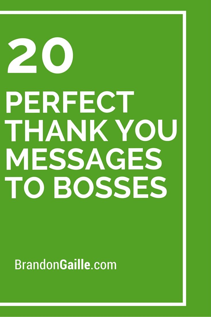 21 Perfect Thank You Messages to Bosses | Boss, Messages ...