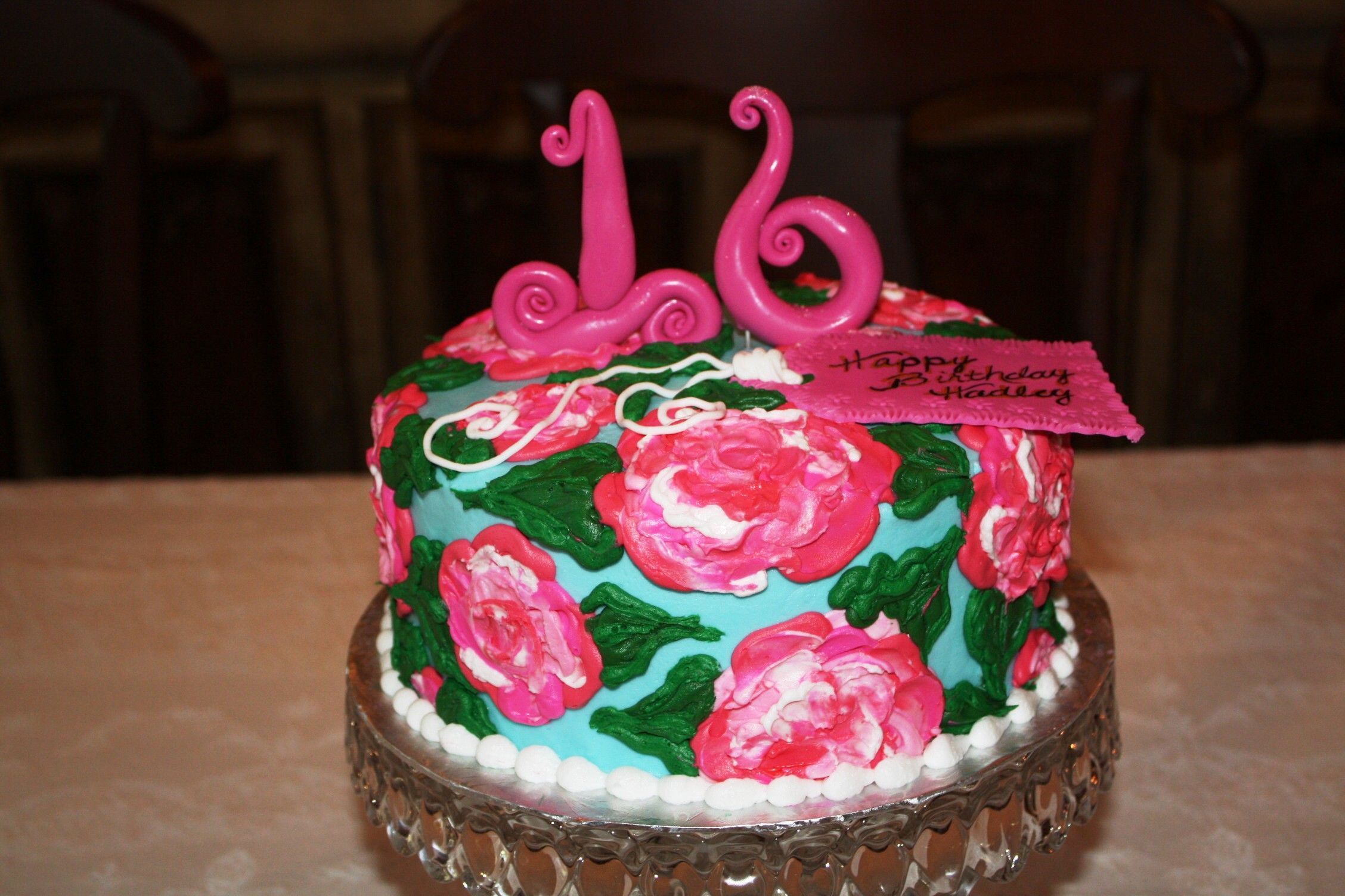 Sweet 16 Lilly Pulitzer cake from County Line Bakery EdmondOK