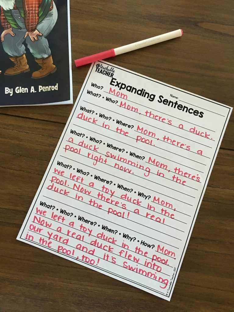 Grab this free printable and lesson idea for teaching students to ask questions in order to expand their sentence writing.