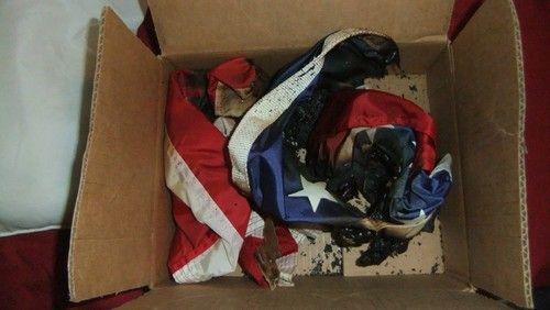 US $49,999.00 My Grandpa's (Bumpa's) BURNED American Flag