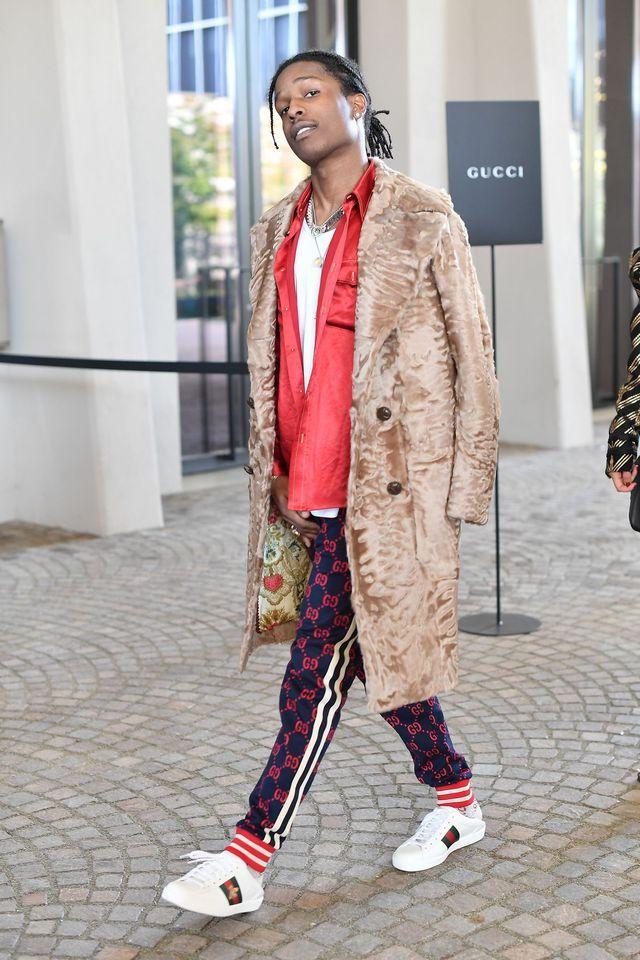 ASAP Rocky à la sortie du défilé Gucci printemps-été 2018.