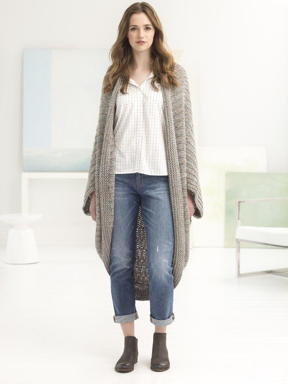 Quick Cocoon (Crochet) - Lion Brand Yarn | crochet | Crochet ...