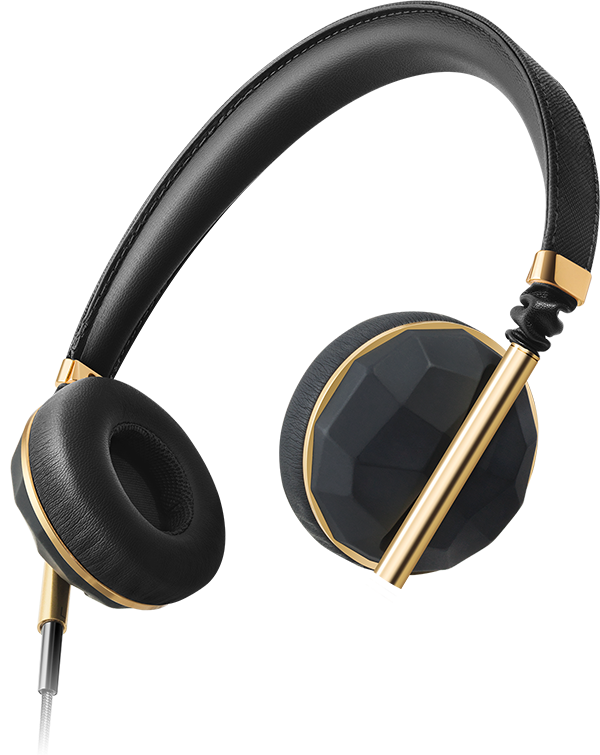Over ear earbuds gold - metal headphones over ear