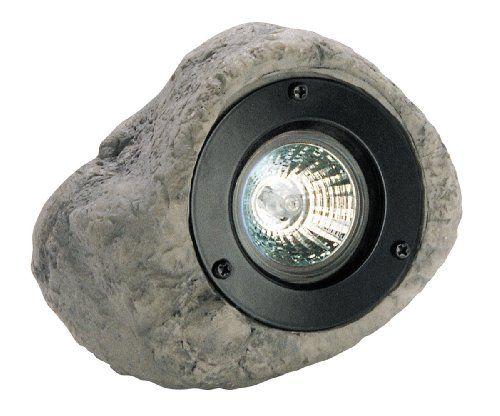Paradise Gl22315s 12 Volt Polyresin 20 Watt Faux Rock Floodlight Faux Rock Paradise Garden Pond Lights