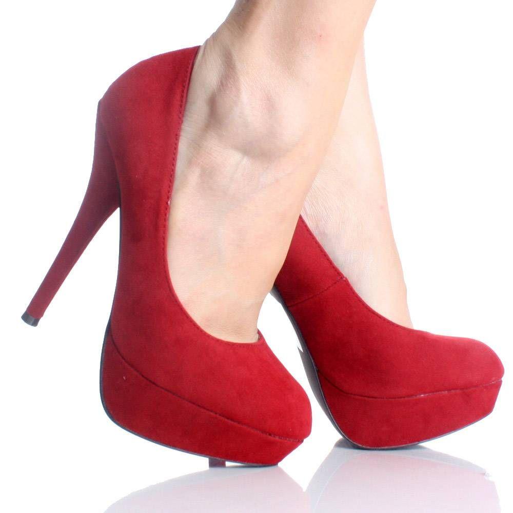 8b3c30dd838 Red Velvet Closed Toe Platform Stiletto High Heel Pump Womens Shoes ...