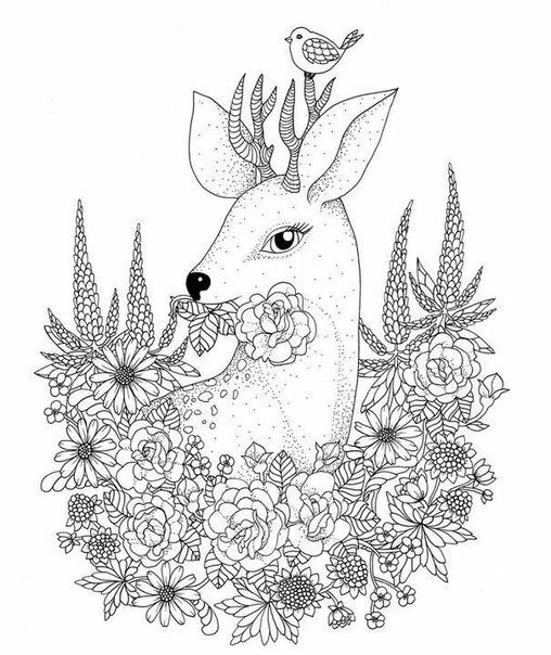 Relax Dear Coloring Pages