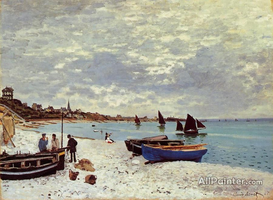 Claude Monet The Beach At Sainte-adresse oil painting reproductions for sale