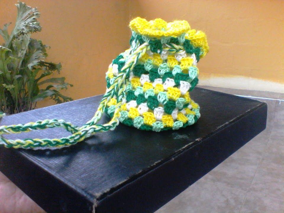 Crochet, Mini Bolso de Mano