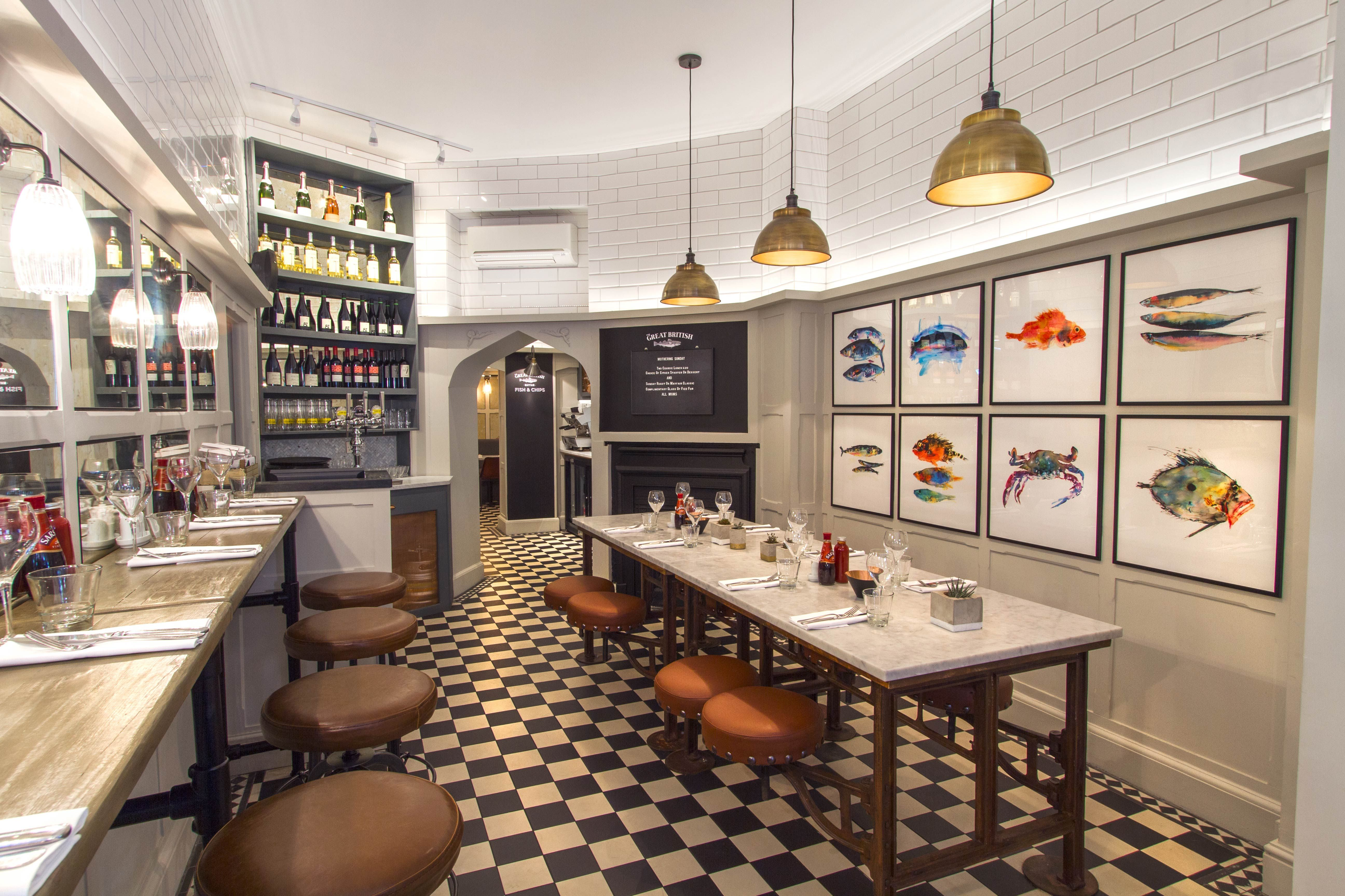 Stephenson Wright Ltd The Mayfair Chippy London Interior Design Restaurant Design Restaurant Interior Design Family Dining Restaurant