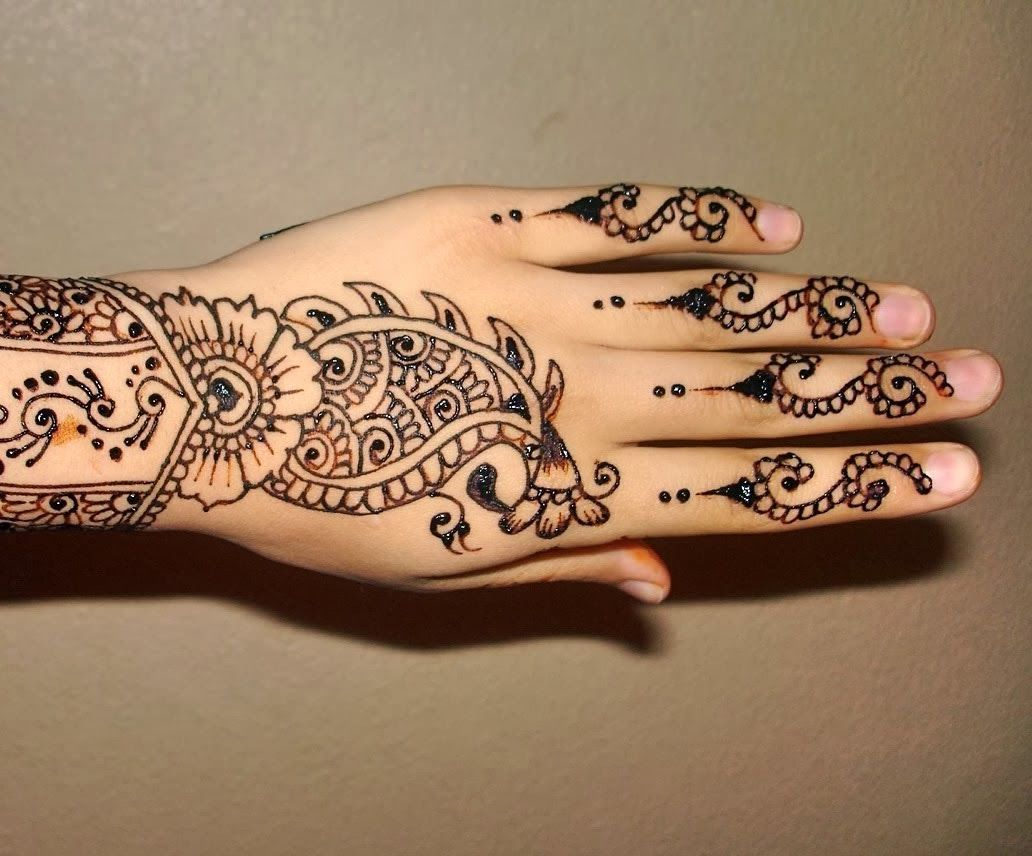 Simple Mehndi Patterns Wallpapers : Latest mehndi designs easy design for hands