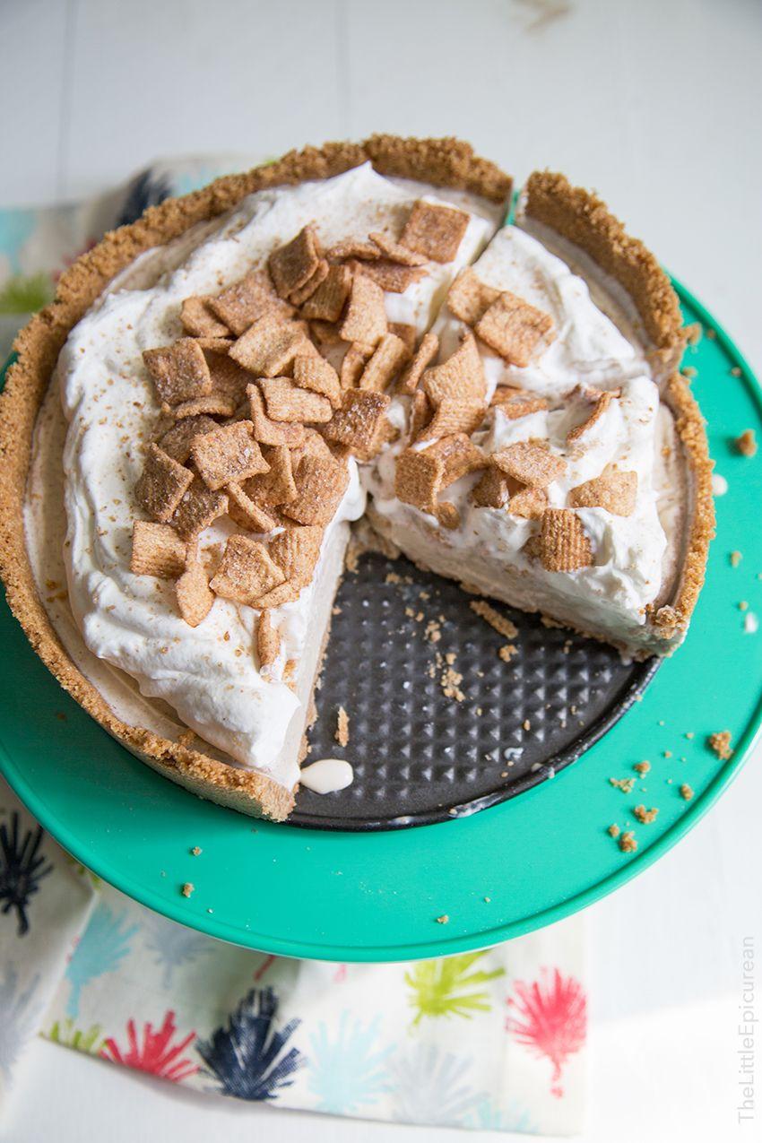 Cinnamon Toast Crunch Ice Cream Pie - The Little Epicurean