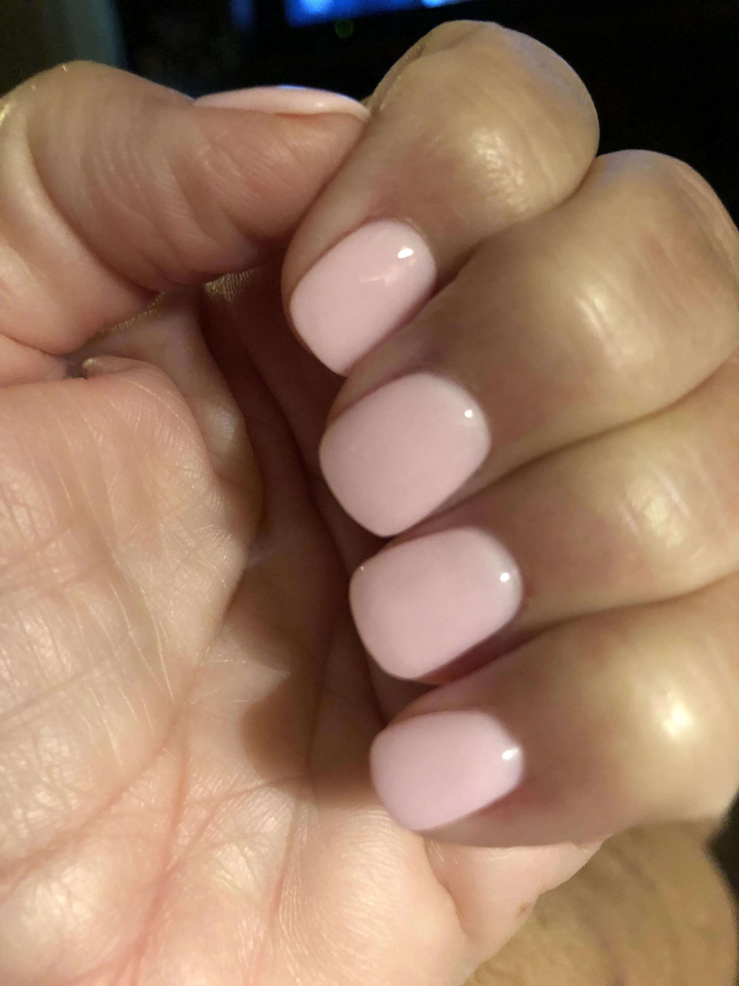 A White Pink Sns Dip Powder It S Marked As 307 At My Salon Shortnaildesigns Sns Nails Colors Powder Nails Gel Nails