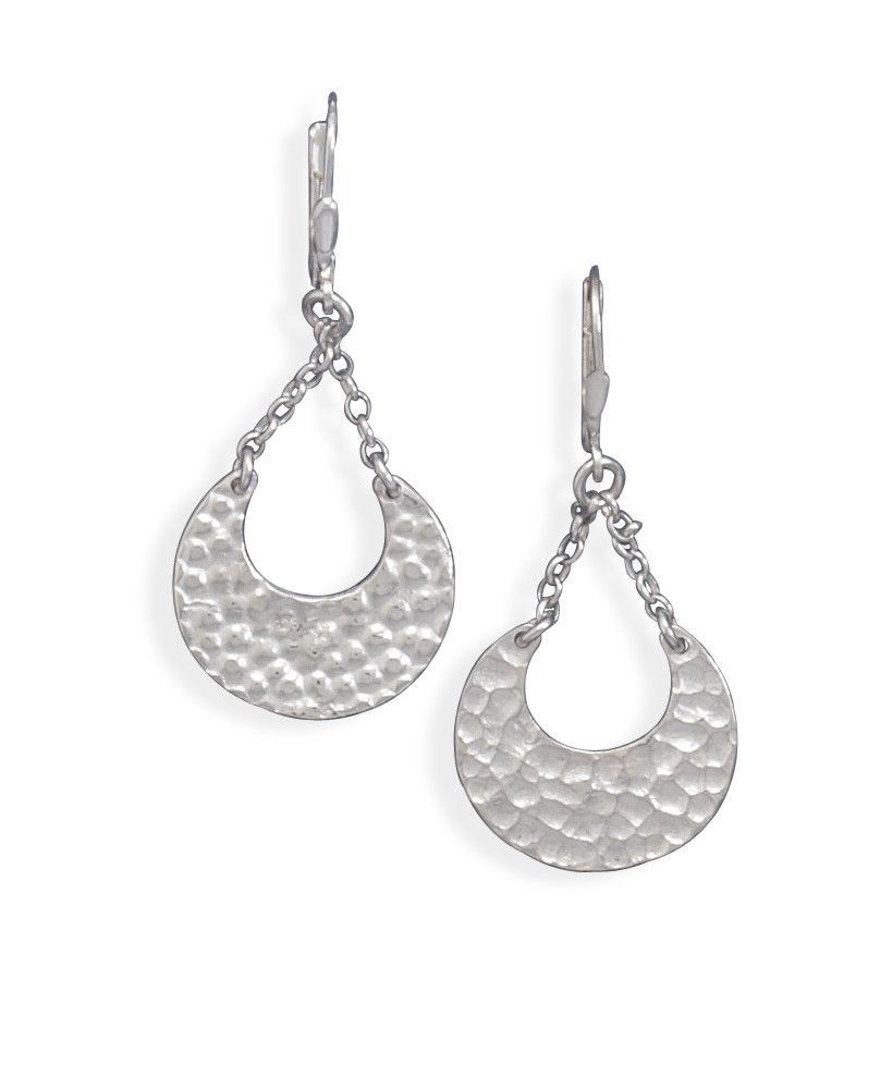 Chain Drop Hammered Earrings