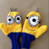 Knitting : Mischievous Minions Mittens
