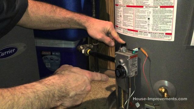 how to reignite a gas water heater