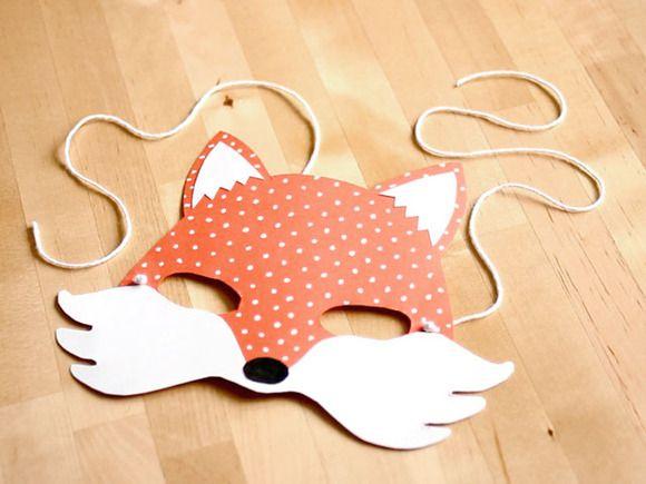 c51c0dd0ae Manualidades en vídeo  Cómo hacer una máscara de zorro con cartulina Como  Hacer Mascaras