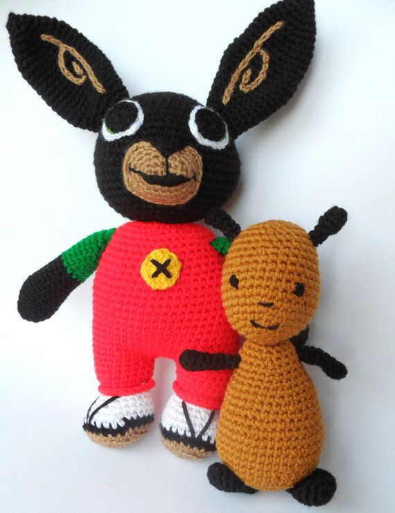 Knitting Patterns Rabbit Soft Toy : Bing and flop crochet soft toys cbeebies by